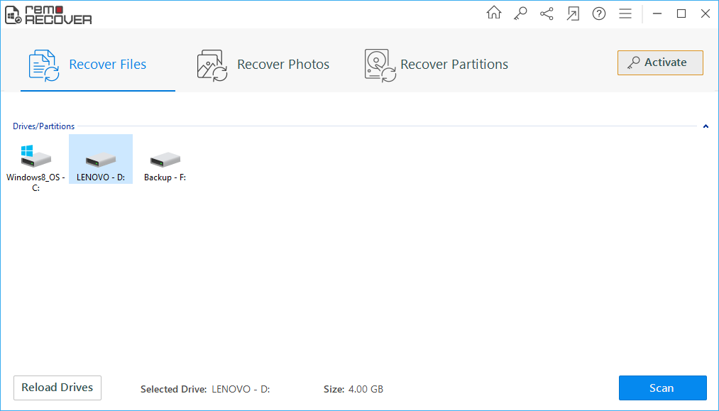 Office File Recovery - Select Recovery Mode